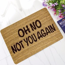 CAMMITEVER Funny Word Rug Oh No Not You Again Carpet Non-Sli