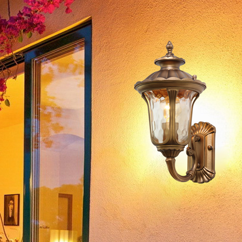 Outdoor wall lamp outdoor balcony corridor door post wall  European style villa courtyard landscape lighting the ivory white european super suction wall mounted gate unique smoke door