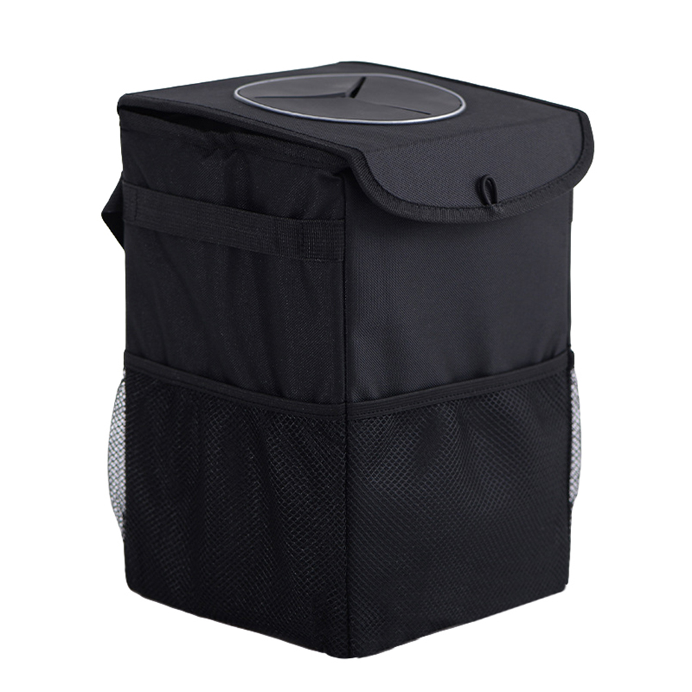 Collapsible Waterproof Car Garbage Bag Rubbish Container Back Seat Hanging Auto Organizer Trash Can Bin For Car Truck RV Boat