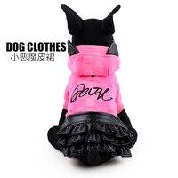 Hot bán pet dog quần áo da dress với cap quỷ khí Công Chúa Bông quần áo