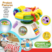 ClassicToy Steering Wheel Electronic Music 2 In 1 Projection Full HD Newborn Infant Baby Sleep Bed