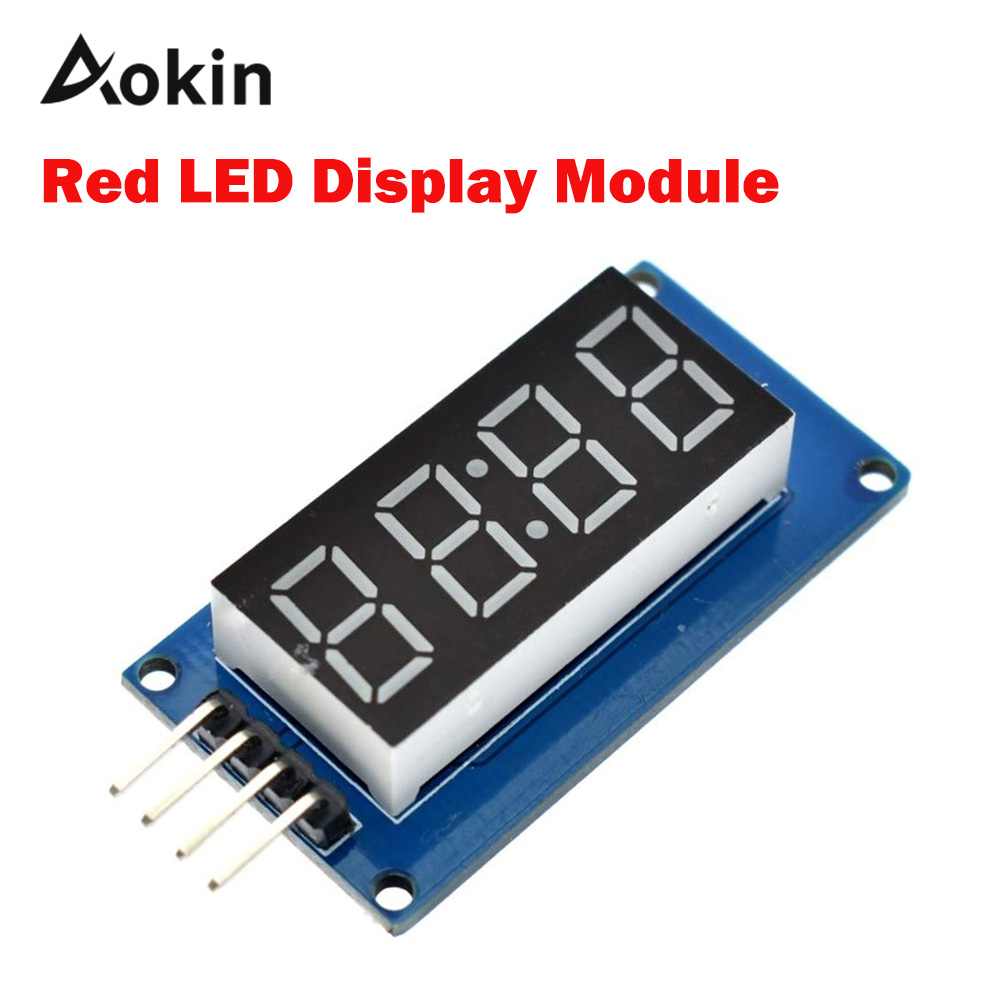 TM1637 4 Bits Digital LED Display Module Diy For Arduino 7 Segment 0.36 Inch Clock RED Anode Tube Four Serial Driver Board Pack