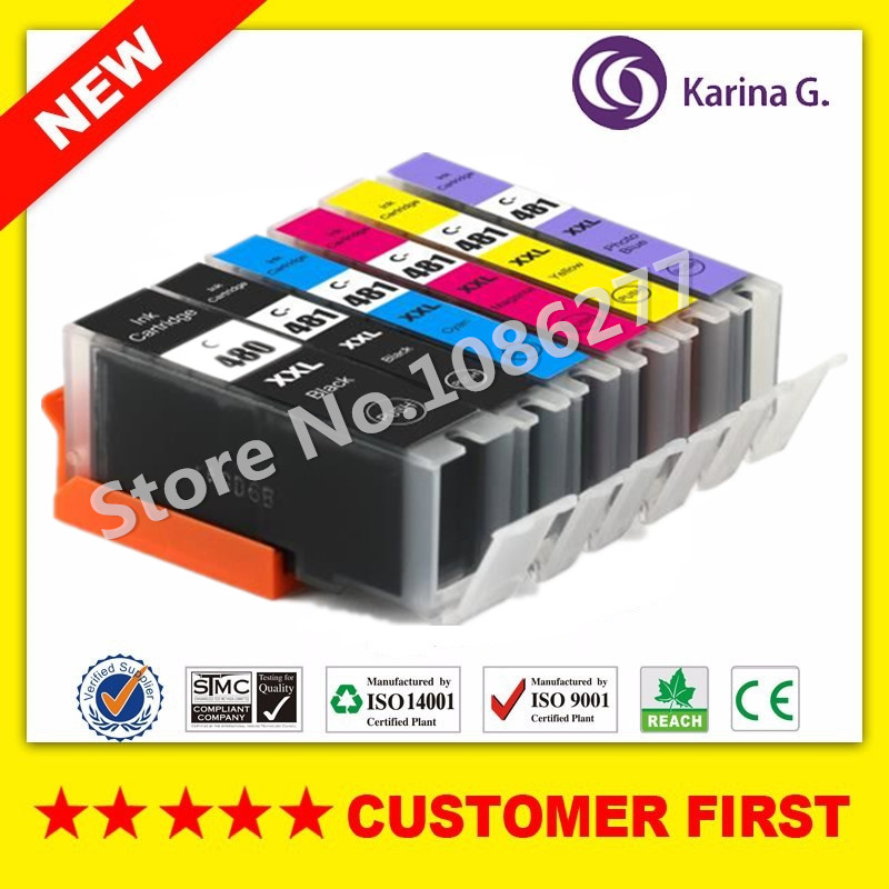 Compatible for Canon PGI480 CLI481 PGI-480 CLI-481 Ink Cartridge For Canon PIXMA TS8140 TS9140 cartridge chip resetter for canon pgi 650 cli 651 for canon ip7260 ip8760 mg7160 mg5460 mg5560 mg6360 mg6460 mx726 mx926 ix6860