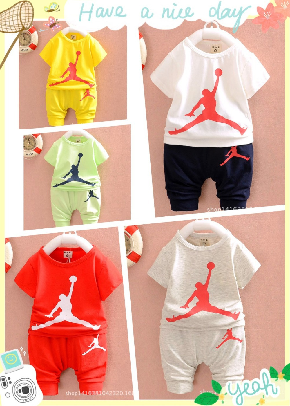 bfe953c56a612c Hot sales sale summer children boys girls brand fashion jordan 23 T shirt  +Haroun pants 2sets children sets tops T shirt+ pants-in Clothing Sets from  Mother ...