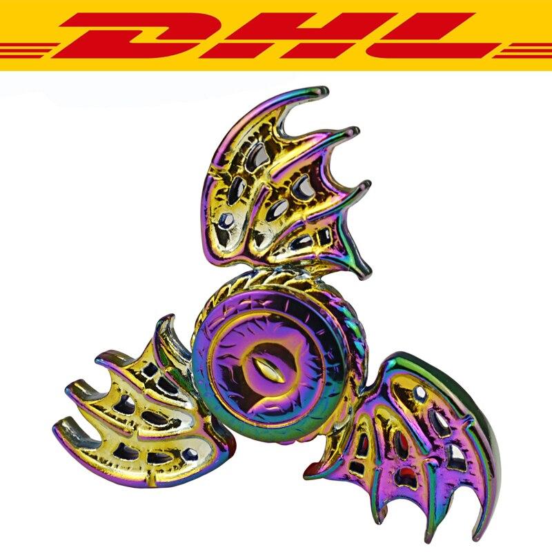 20Pcs/Lot Rainbow Dollar Aluminium Metal Tri Spinner Adults Anti Stress Toys Autism ADHD Funny EDC Hand Spinner ...