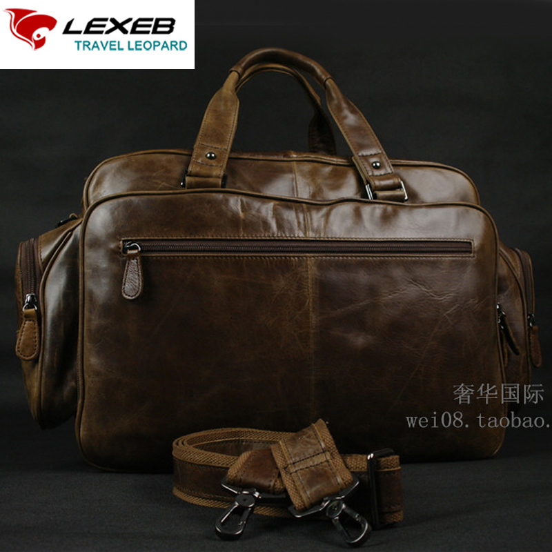 lexeb brand full grain leather men 39 s briefcases 15 laptop. Black Bedroom Furniture Sets. Home Design Ideas