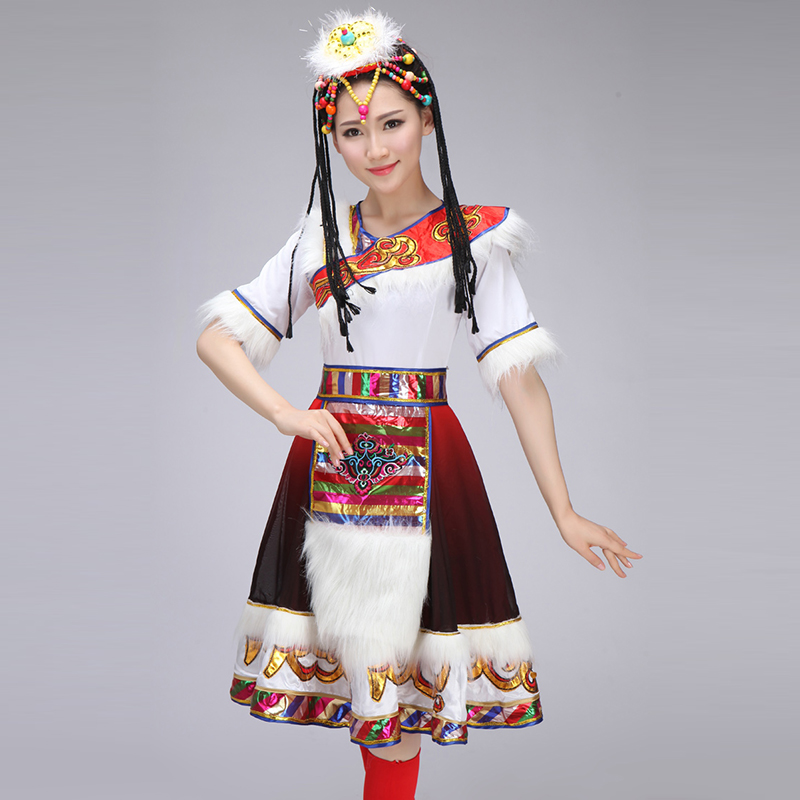 New Tibetan Dance Costumes for Women with water sleeves Girl Dance Clothing performance clothing Square Dancing Costume