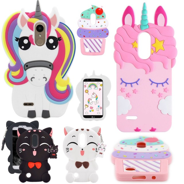 cheap for discount 2dfcc 64bba US $5.98 |Aliexpress.com : Buy For LG Premier Pro LTE /LG K30 Case,For LG  K10 Alpha 3D Cartoon Silicone Cute Rainbow Unicorn Horse Animal Soft ...