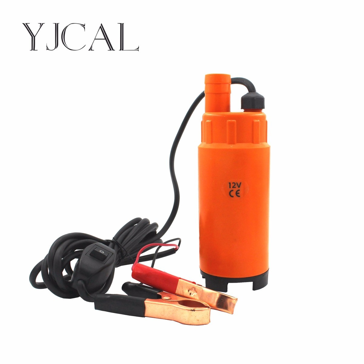 Submersible Pump Diameter 51MM DC 12V 24V Motor Suction Oil Water Disel Pump Plastic Shell Car Camping Portable With Switch replacement plastic housing water pump motor ac 110v 13a