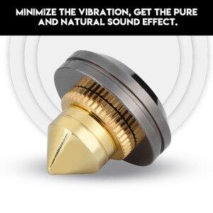 Image 3 - 4 pièces/ensemble haut parleur Isolation pointes pied pied HiFi haut parleur ampli CD cône socle coussinets 28x25mm