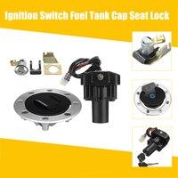 Motorcycle Lockset Ignition Switch Fuel Tank Gas Cap Seat Lock Key Set for Suzuki GSX1300R Hayabusa 99 07