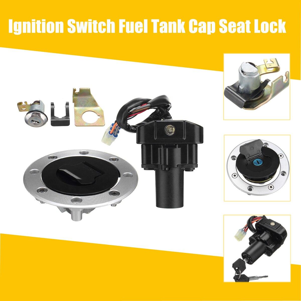 Motorcycle Lockset Ignition Switch Fuel Tank Gas Cap Seat Lock Key Set For Suzuki GSX1300R Hayabusa 99-07