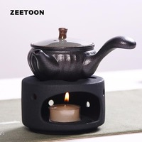 classical warm tea stove ceramic teaware accessories / candle heating coffee milk tea heater Holding furnace teapot base holder
