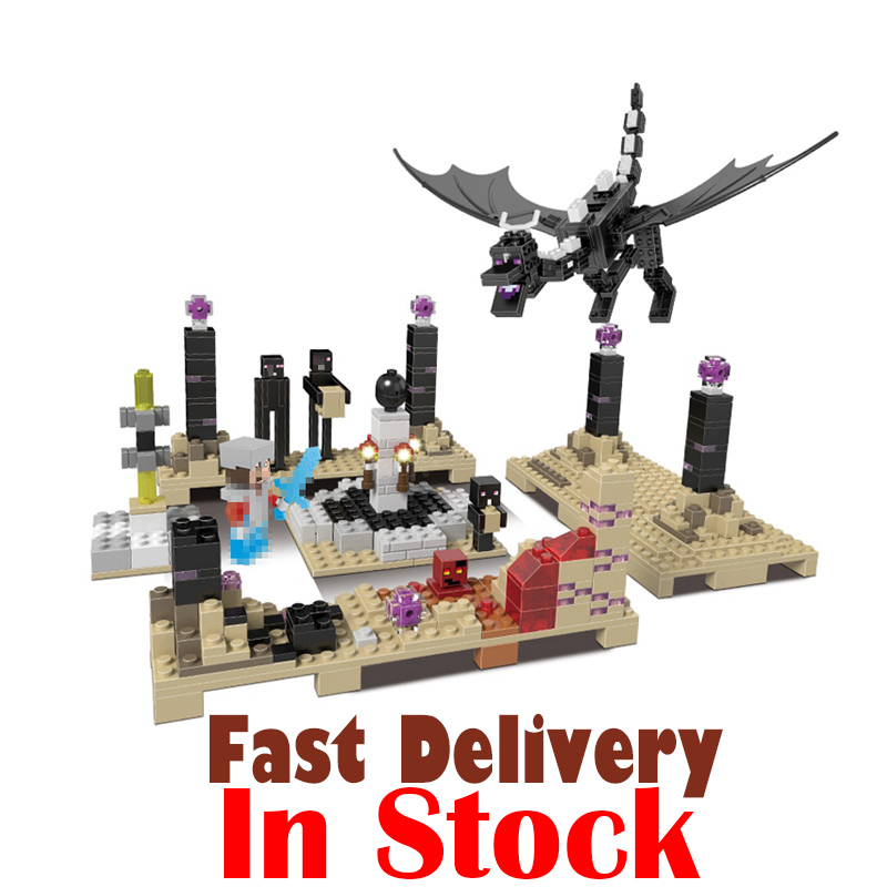 Xingbao 678Pcs Minecraft The Ender Dragon Model Mini Building Blocks Bricks DIY Figures Toys for children Compatible Brand toy 4pc set ninjagoes dragon knight building blocks kids hot toys ninja bricks mini action figures enlighten toy for children friend