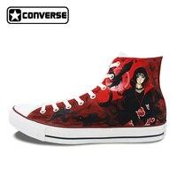 Custom Design Shoes Men Women Canvas Sneakers Anime Shoes Naruto Uchiha Itachi Shisui Hand Painted Converse