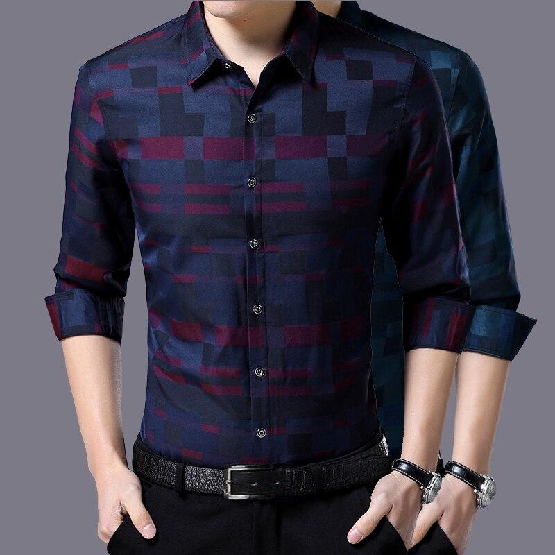 Liseaven Men's Shirt Brand New Men Shirts Full Sleeve Dress Shirt Turn-down Collar Male Casual Shirt Mens Clothing 2