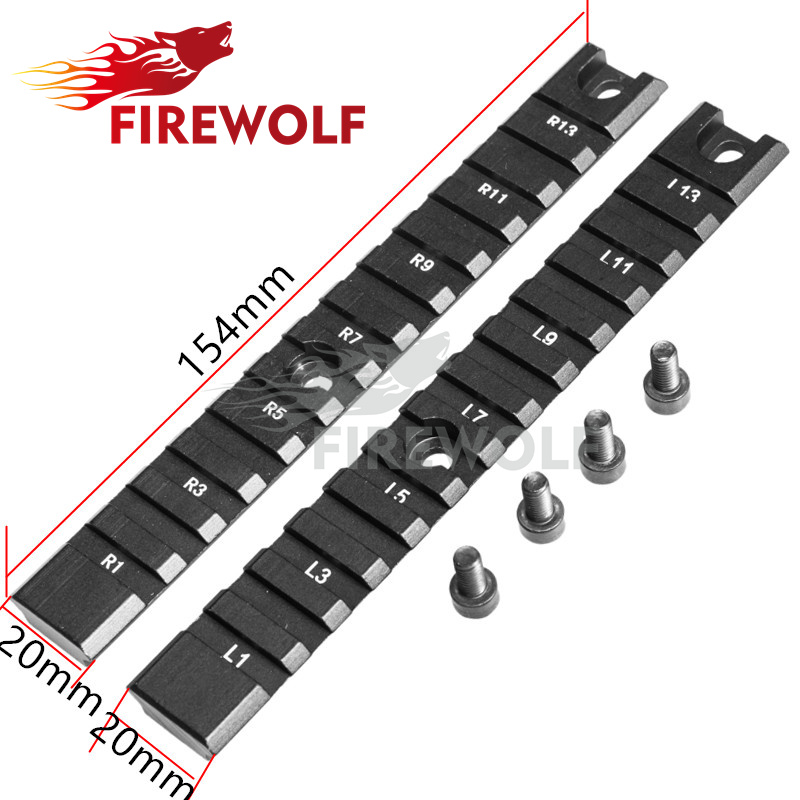 FIRE WOLF Hunting Shooting Tactical 2 long pieces G36 G36C Series Mount Base Ring Picatinny weaver Gun Rail Base