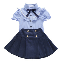 New Childrens Uniform School Summer Clothes Elementary Short Sleeve Suit
