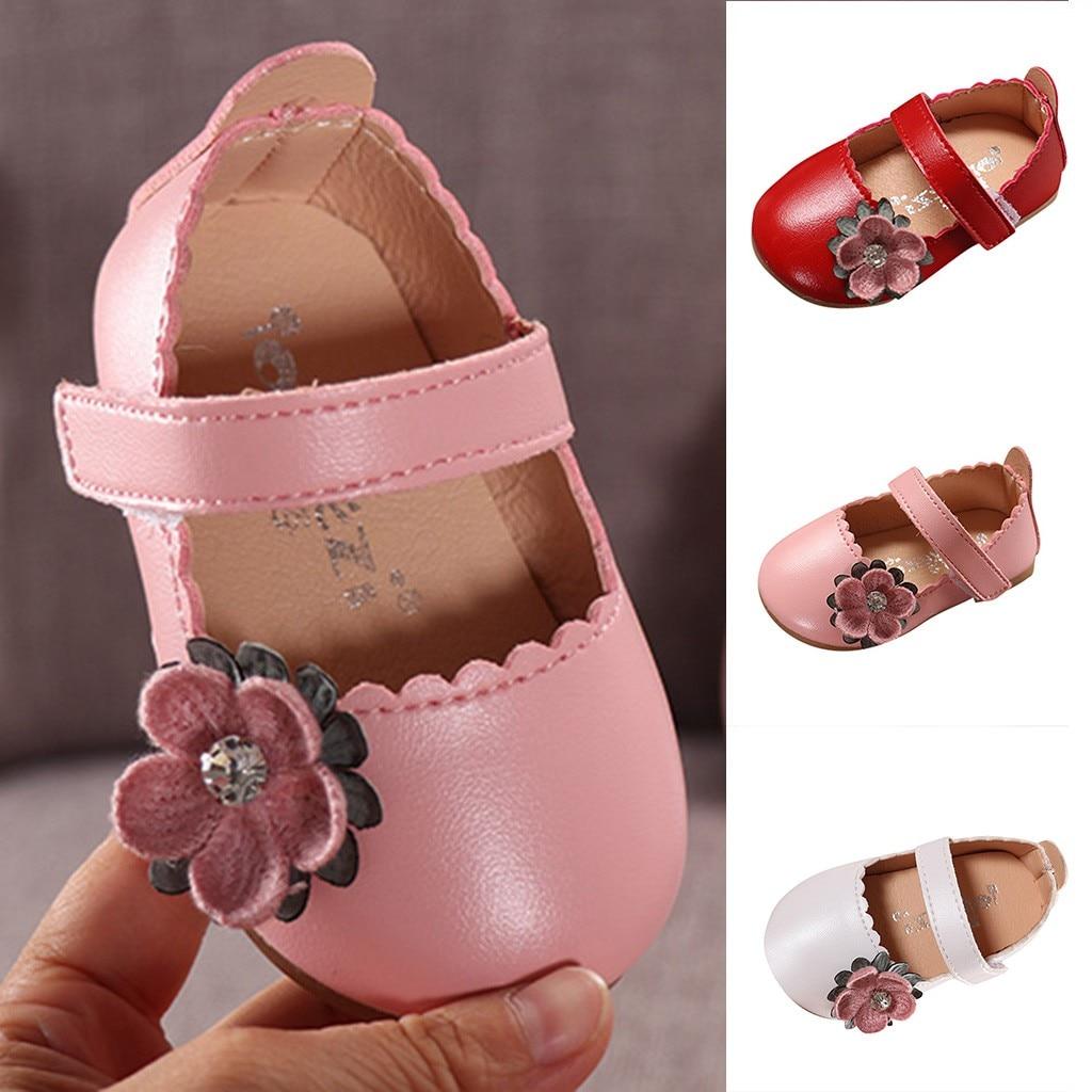 Kinder Leder Schuhe Mädchen Schuhe Sandalen Kleinkind Infant Kinder Baby Mädchen Elegante Bowknot Einzigen Prinzessin Casual Schuhe #7 Exquisite Verarbeitung In