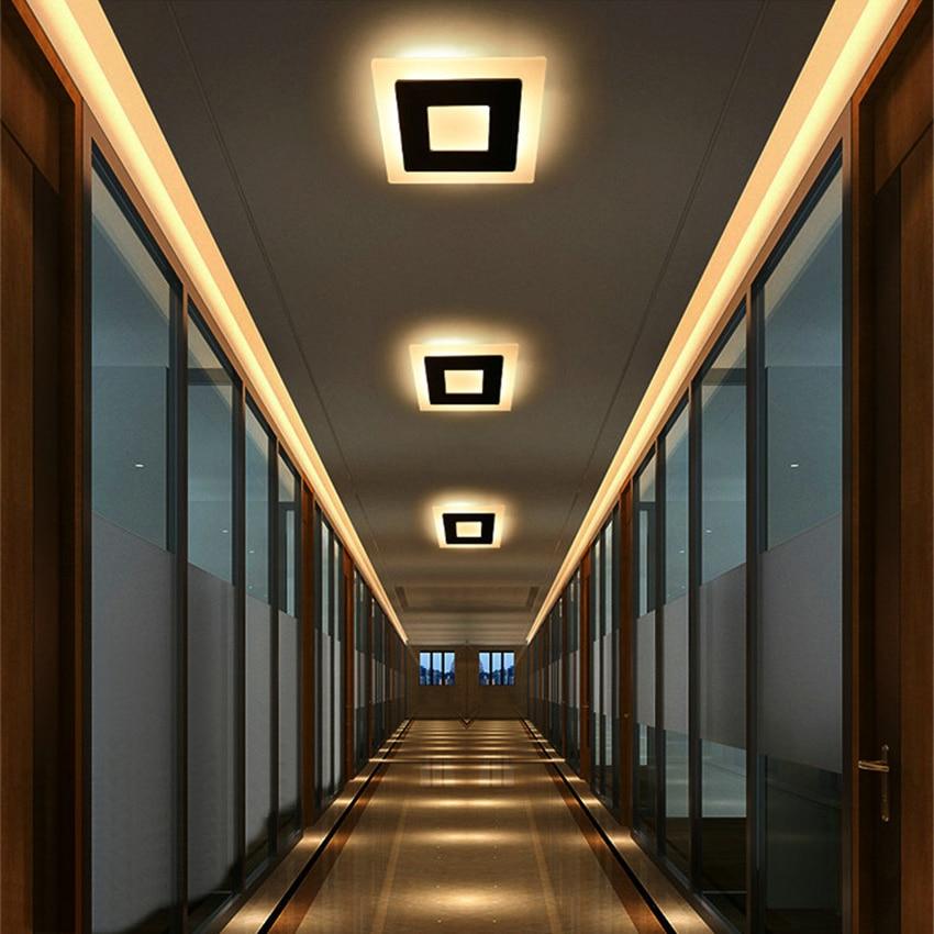 HTB1Guf6X2fsK1RjSszgq6yXzpXah 18w LED Ceiling Light Aluminum Acrylic Home Decor Ceiling Lamp Bedroom Living Room Hallway Lighting Light Fixture BL09x