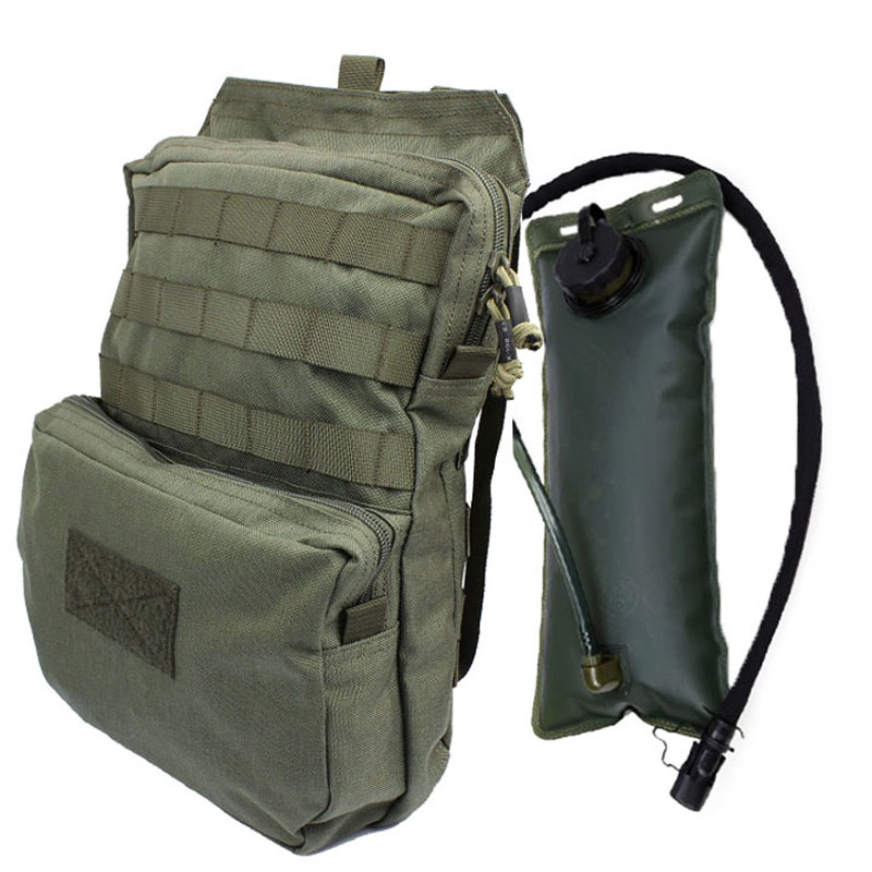 Tactical Molle Hydration Pack With 3L Water Bladder, Tactical Hydration Carrier For Tactical Vest