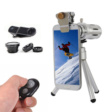 Buy online 2017 Camera Lenses kit 12x Zoom Telephoto Lentes For iPhone 5s 6 6s 7 Plus Xiaomi Huawei Fisheye Wide Angle Macro lens Telescope