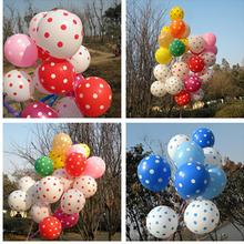 10 Pcs/Lot Birthday Celebration Party Wedding Holiday Decorating Balloons Kids Gift Cute Latex Polka Dot Balloon