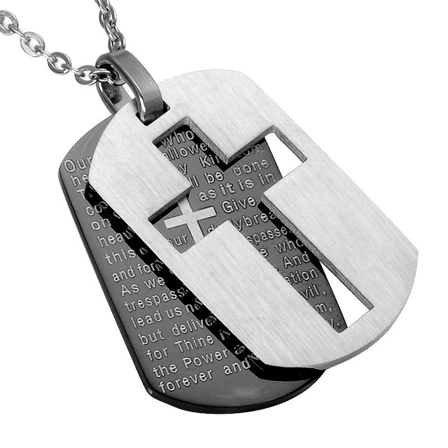 Looker Cross Necklaces Pendants Christian Jewelry Bible Lords Prayer