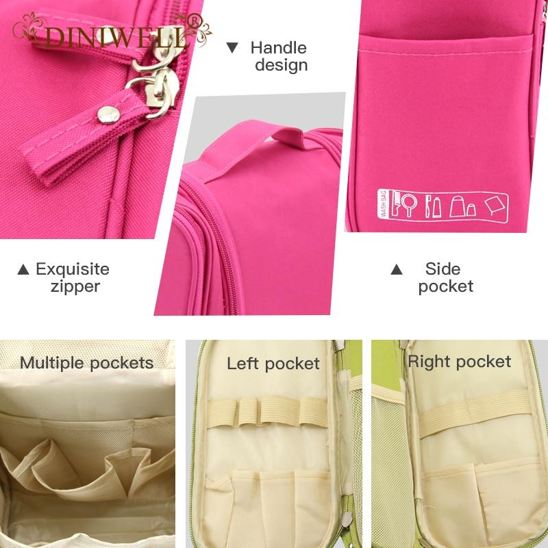 Waterproof Travel Organizer Bag Unisex Hanging Makeup Storage Bags - Organisasi dan penyimpanan di dalam rumah - Foto 3