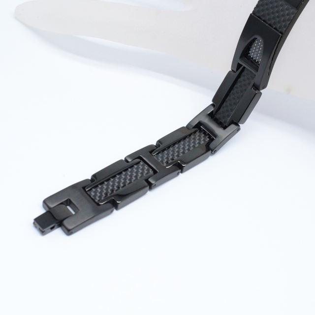 Stylist Men Bracelet Magnetic Pure Titanium Carbon Fiber Germanium