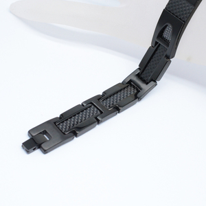 Image 3 - Escalus magnético puro titânio preto pulseira para homens estilista de fibra carbono germânio charme novo pulseiras