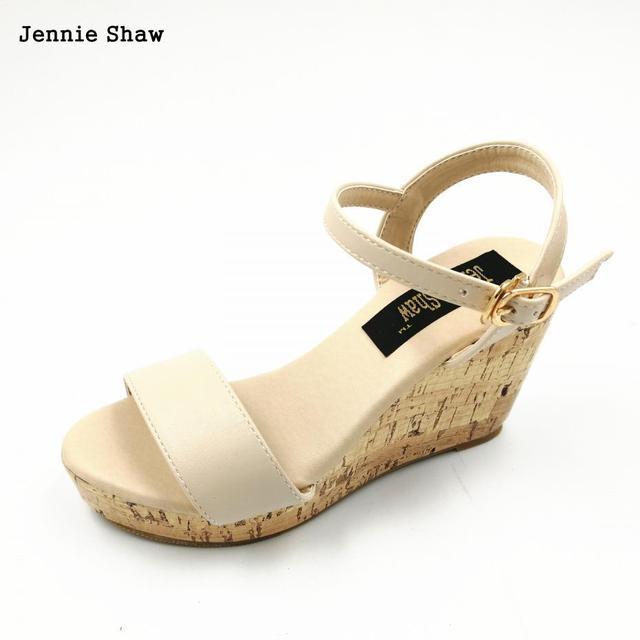 b1a313ca13 Boemia verão sexy plataforma cunhas sandálias femininas sapatos de salto  alto 30 31 32 33 41