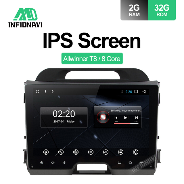 Infidnavi IPS Octa core android 8.1car dvd for KIA sportage 2010-2015 gps navigation car radio video stereo multimedia player