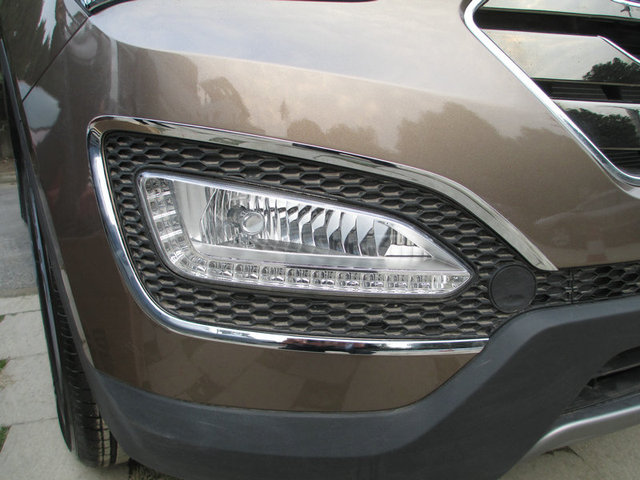 Auto chrome accessories,front fog light cover lamp bazel trim for  IX45  2015 2016,ABS chrome,free shipping