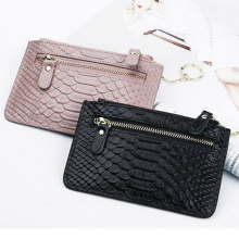 b49ec61c6d4 Cow Coin Purse Wallet Woman Card Luxury Brand Genuine Leather Coin Purse  Leather Zipper Key Ring Ladies Leather Wallets Coin
