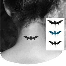 Cute Bat Tattoo Stickers Little Waterproof Henna Beauty Temporary Body Tattoo Sticker Art