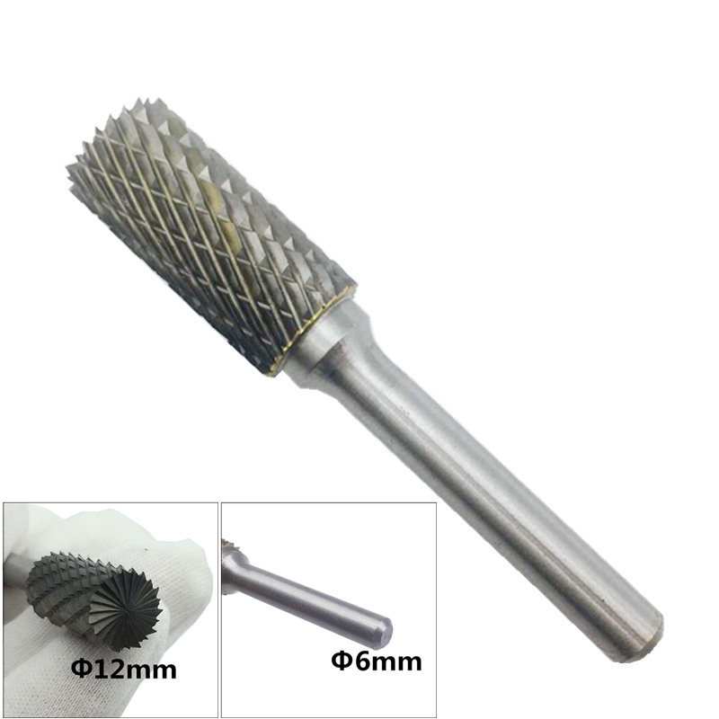 Carbide Rotary File AEX1225M06 Milling Shank 6mm Metal Grinding Cutter Head Rotary Burr 12mm Head Accessories 1 pc цена