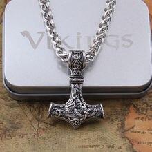 Дропшиппинг 1 шт Молот Мьёльнир Тора кулон ожерелье викинга