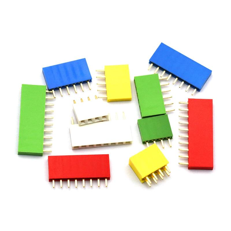 50PCS Green 2.54mm 40 Pin Male Single Row Pin Header Strip ZH1