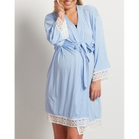 Breastfeeding Pajamas For Pregnant Women Full Sleeved Home Service Nursing Clothes Maternity Dress Sleepwear
