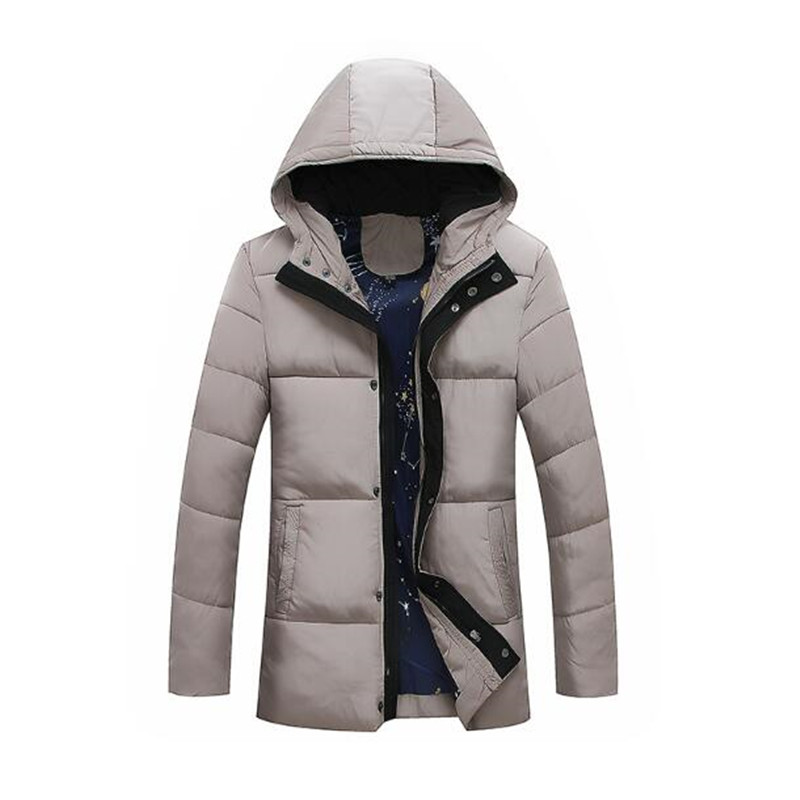 2017 Winter Jacket Men Hat Warm Coat Cotton-Padded Outwear Mens Coats Jackets Hooded Collar Slim Clothes Thick Parkas winter jacket men thick warm hooded winter coat cotton padded jackets fashion young mens slim fit outwear parka hombre