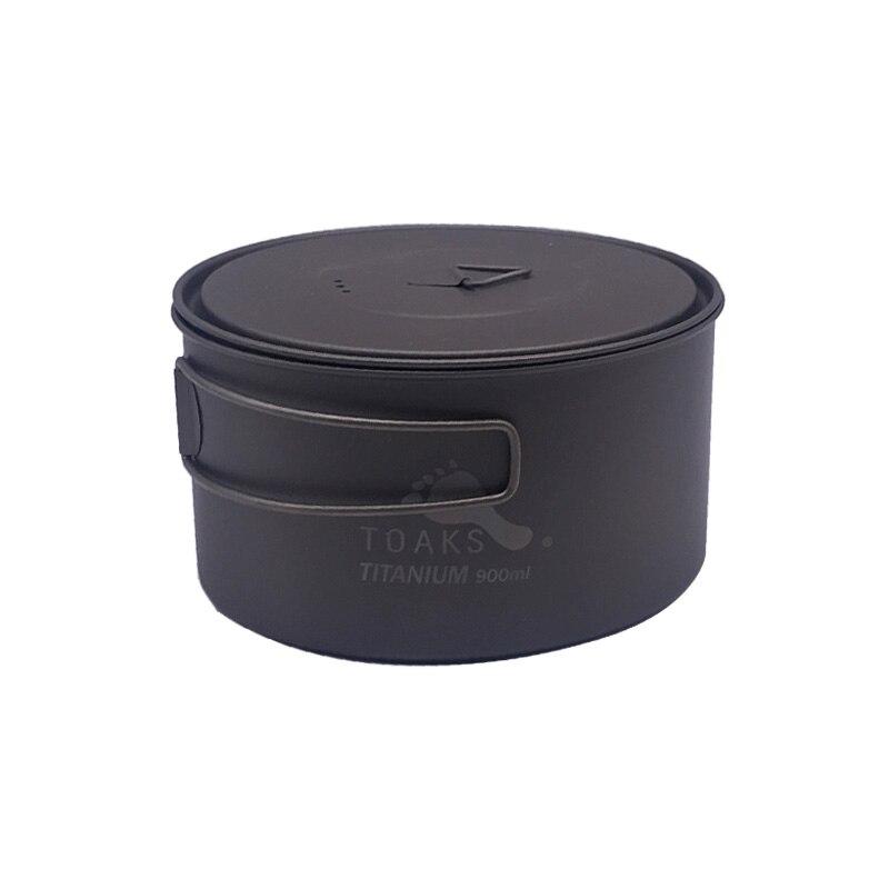 TOAKS extérieur titane 900 ml Pot Camping casseroles pique-nique ultra-léger Pot en titane avec couvercle et poignée POT-900-D130