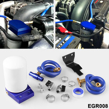 Coolant filtration system exhaust gas circulation 6.0L Powerstroke diesel engine