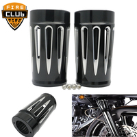 For Harley Touring Road King Electra Street Glide FLHX FLHR 1984 10 11 12 13 Front Fork Boot Slider Covers
