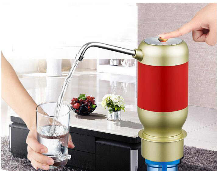 زجاجة مضخة المياه الكهربائية التلقائي الذكي لاسلكية وحدة شفط موزع مياه الشرب موزع مع بطارية قابلة للشحن