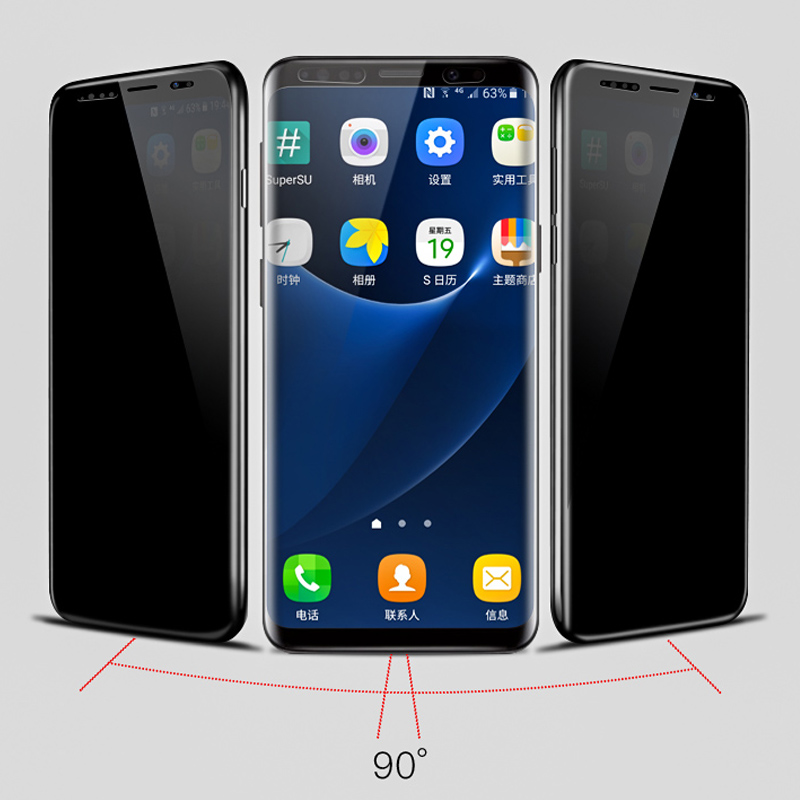 MPLSBO Privacy Screen Protector for Samsung Galaxy S8 S9 Plus Note 8 Tempered Glass for Samsung S9 S8 Privacy Protection Film