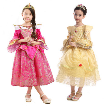 305e0417a Vestido de princesa Cenicienta vestido de niña princesa sin mangas otoño  invierno Bebé vestido de ...