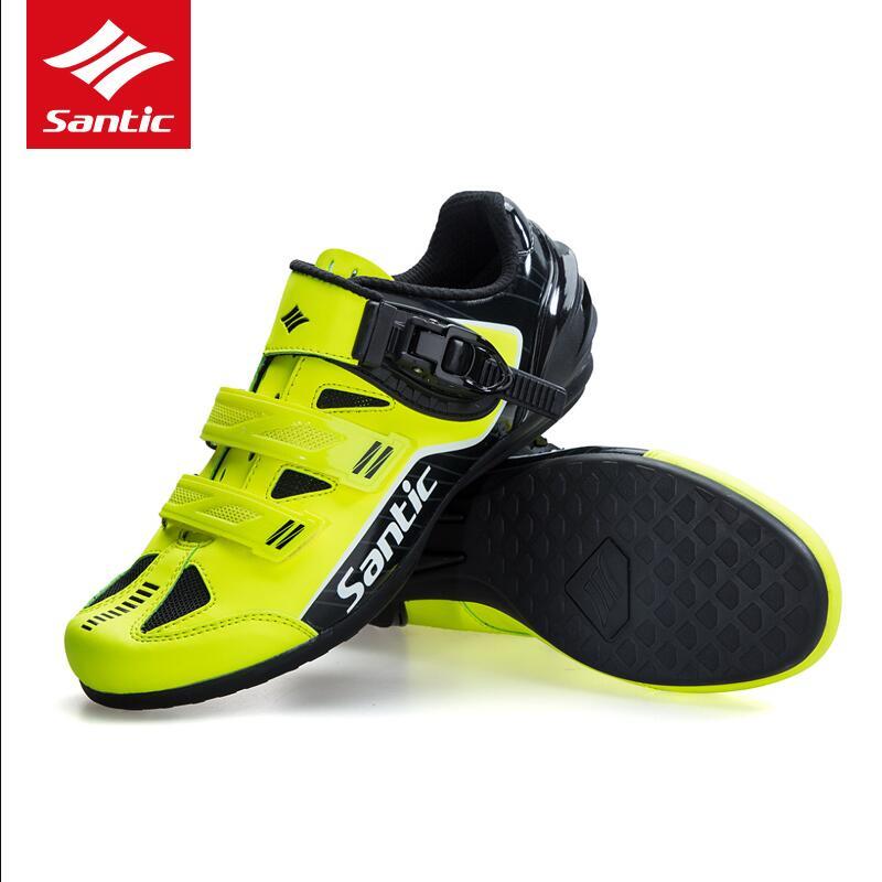 купить Santic High Quality Men Cycling Shoes Breathable Outdoor Professional Road Bicycle Shoes Non-Slip No-Lock Bike Shoes по цене 4099.18 рублей