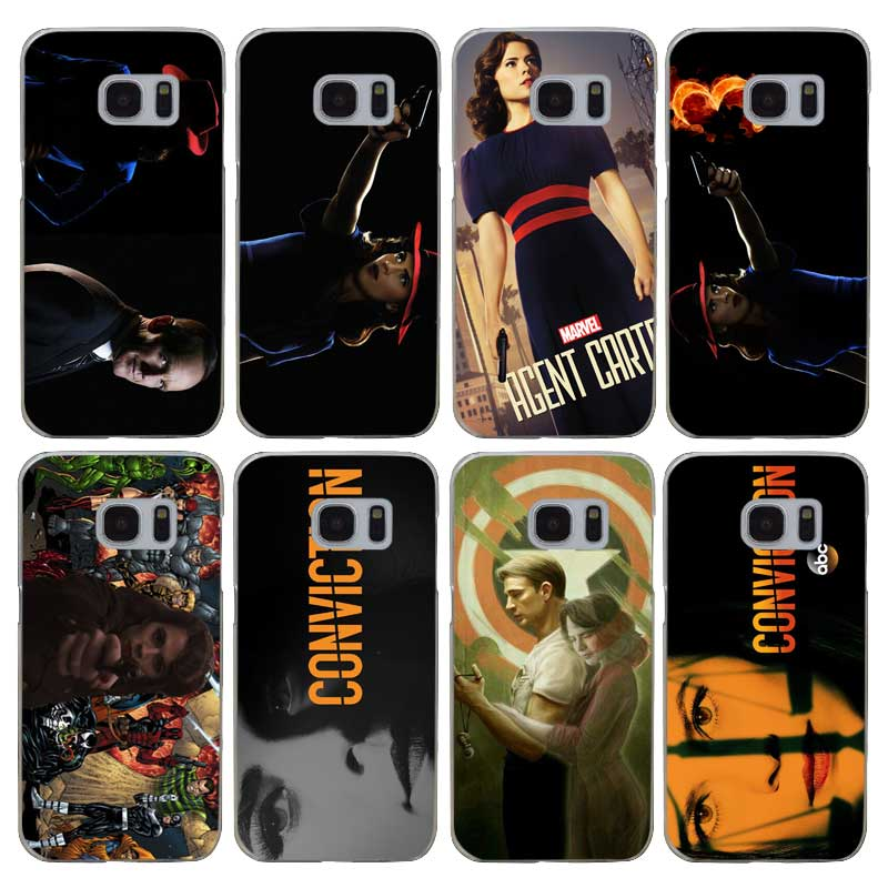 G19 Agent Carter Transparent Hard PC Case Cover For Samsung Galaxy S 3 4 5 6 7 8 Mini Edge Plus Note 3 4 5 8