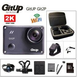 Action camera deportiva Original GitUp Git2P Novatek 96660 remote Ultra HD 2K WiFi 1080P 60fps go waterproof pro Git2 P camera